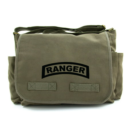 United States Army Military Ranger Symbol Text Canvas Messenger Shoulder