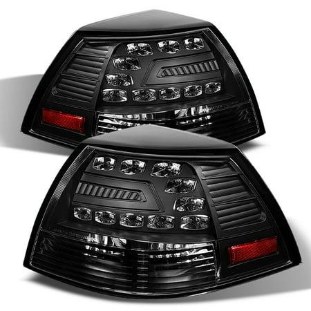 Fits 08-09 Ponitac G8 Gt Gxp 4Dr Sedan LED Black Tail Brake Lights - 4dr Black Led