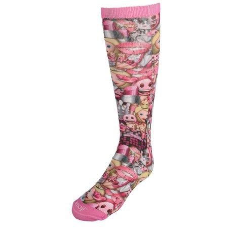 c5122d7b09f Emoji Girl s Funny Faces Knee High Socks - image 1 ...
