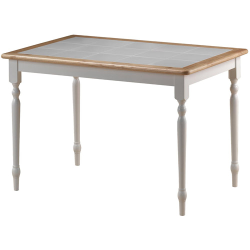 Boraam Tile Top Dining Table, White   Natural by Generic