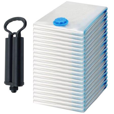 Vacuum Inches Hg (20 Pack Extra Large Felji Space Saver Bags Vacuum Seal Storage Bag Organizer 31x39 inches, 80x100 cm + Free Pump )