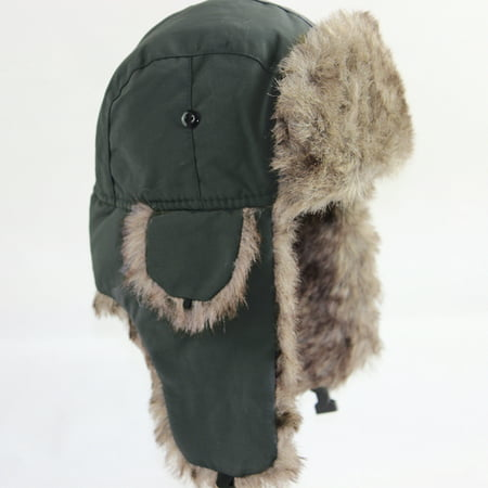 Unisex Men Women Russian Hat Trapper Bomber Warm Trooper Ear Flaps Winter Ski Hat Cap Headwear