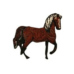 Wild Horse Running Patch Farm Animal