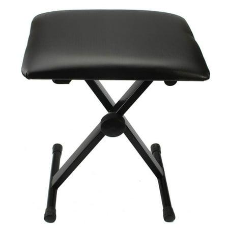 Ktaxon Ktaxon Adjustable Folding Piano Keyboard Bench Leather Padded Stool X Seat Chair Black