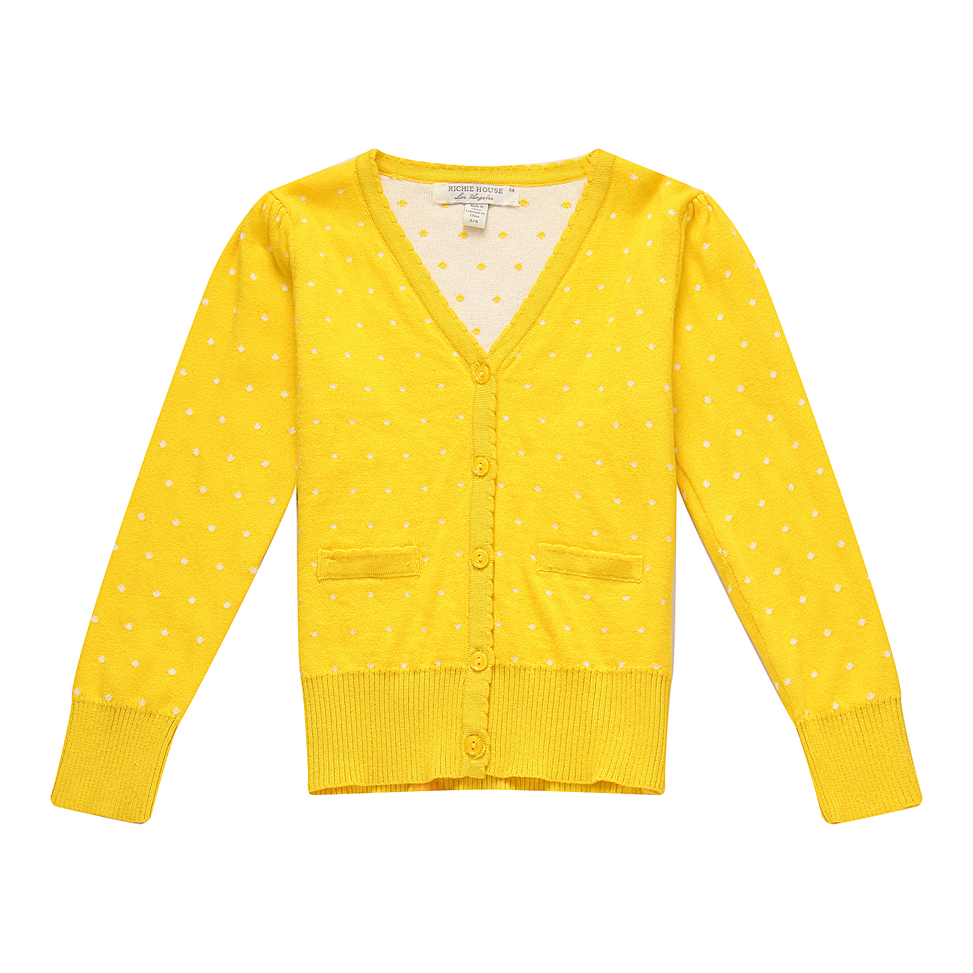 Richie House Girls' Cardigan Sweater with Matching Buttons RH0842