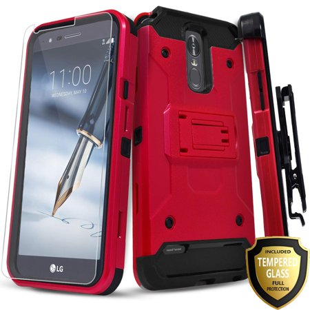 premium selection 6c712 7a735 LG Stylo 3 Case, LG Stylo 3 Plus Case, With [Tempered Glass Screen  Protector Included], Heavy Duty [Tank Armor] Full Coverage Dual Layer Phone  Cover ...