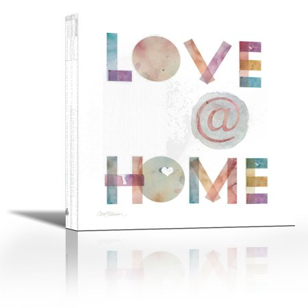 Love @ Home - Contemporary Fine Art Giclee on Canvas Gallery Wrap - wall décor - Art painting - 18 x 18 Inch - Ready to Hang