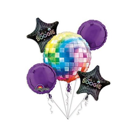 70s Disco Fever Bouquet Of Balloons Multi-Colored