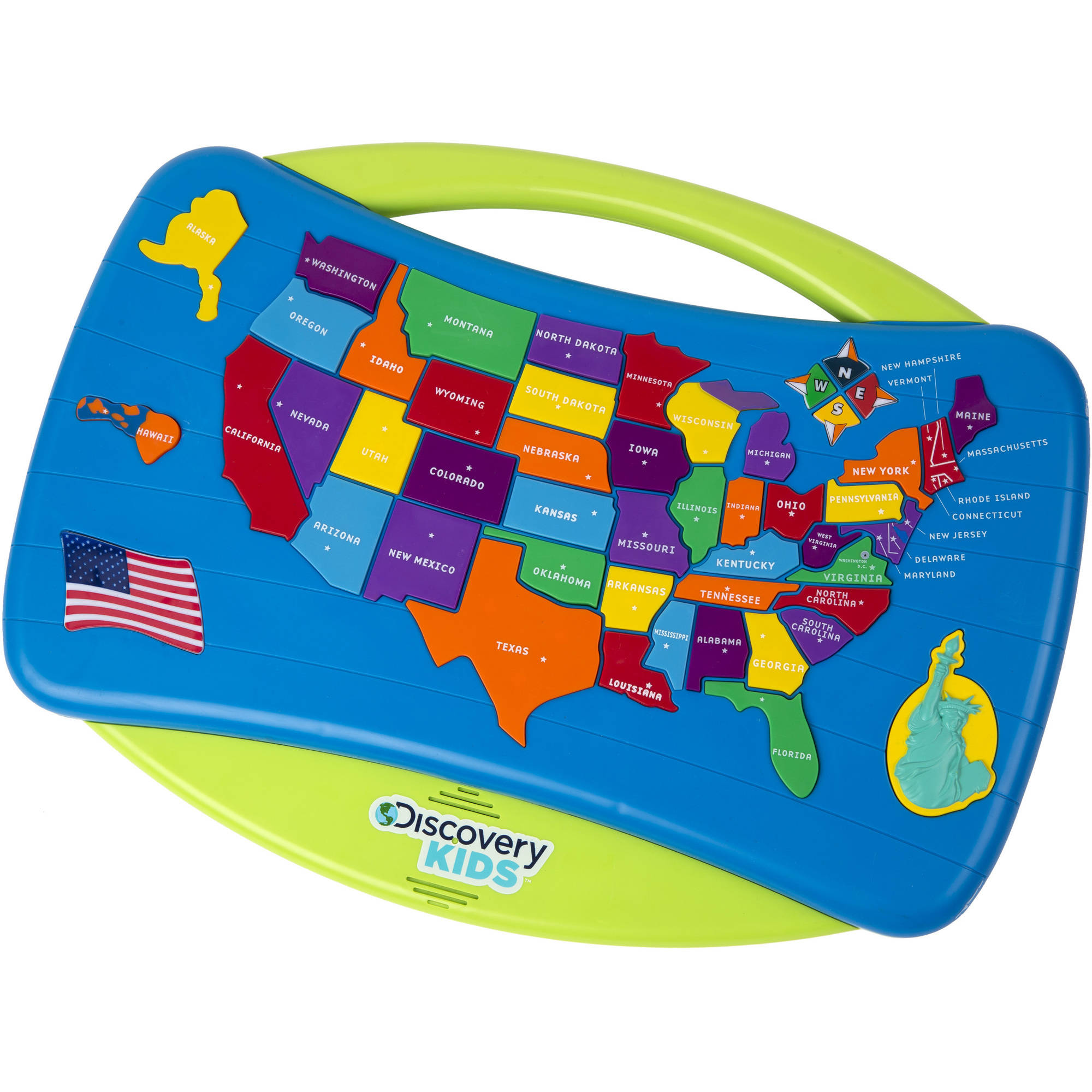 Discovery Kids Talking USA Puzzle Walmartcom - Map usa states drag and drop