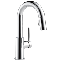 Trinsic Single Handle Pull-Down Bar / Prep Faucet in Chrome 9959-DST