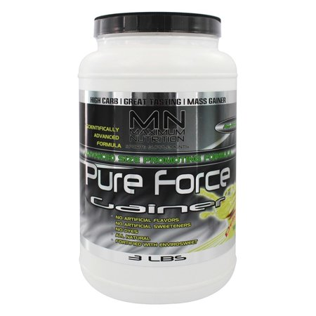 Maximum Nutrition - Force pure Gainer Vanille - 3 lbs.