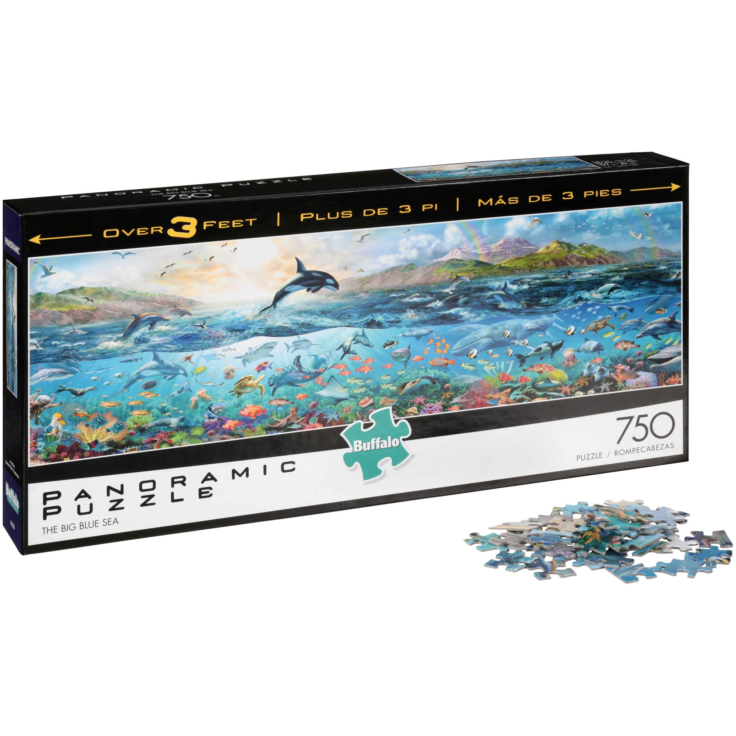 Buffalo™ The Big Blue Sea Panoramic Puzzle 750 pc