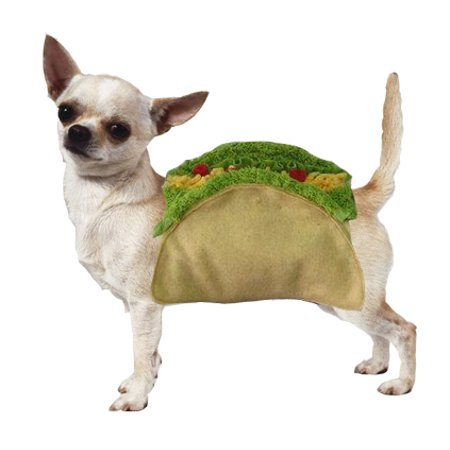 Taco Dog Halloween Costume High Quality Detailed Velcro Shell & Food Toppings (Size 5) (Food Dog Costumes)