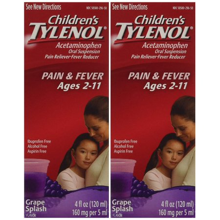 Children's grape flavor ages 2-11 - 2 packs of 4.0 FL OZ, 2 Pack; 2X4 oz By - Juicy Grape Flavor