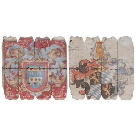 Benzara BM165477 18 x 1 x 21 in. Wooden Wall Plaque, Multicolor - Set of 2 - image 1 de 1