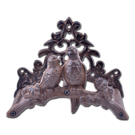 Cast Iron Garden Hose Holder - Love Birds - 8.75