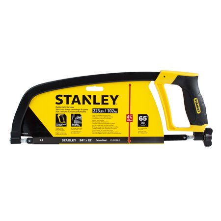 STANLEY STHT20139L 12-Inch Rubber Grip Hacksaw Close Quarter Hand Saw