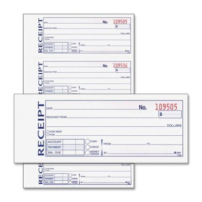 Adams Money Rent Receipt Book ABFDC1182 by