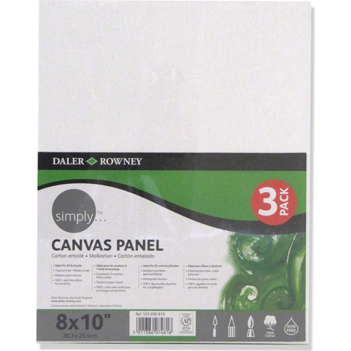 "Simply Canvas Panels, 8"" x 10"", 3pk"