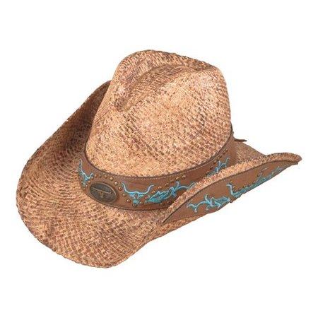 Henschel Australian 3233 Embroidered Raffia Hat