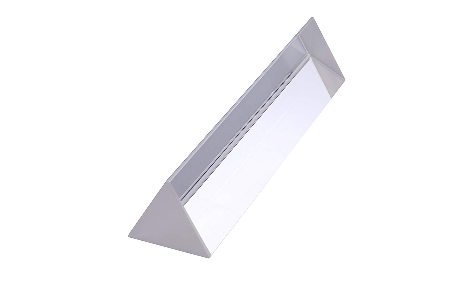 Sizet 6 inch Optical Glass Triangular Prism Triple Sided Prism Crystal Rainbow Maker Spectrum for Photography Science Physics Teaching