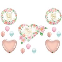 Sweet Baby Girl Floral Shower Balloons Boho Rose Gold Tribal Shabby Chic