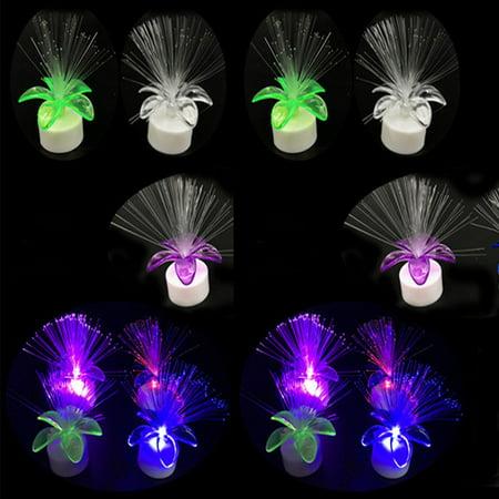 12 Fiber Optic Lamps Small Light Up Flowers Wedding Tulips Decor Fiberoptic LED](Led Flowers)