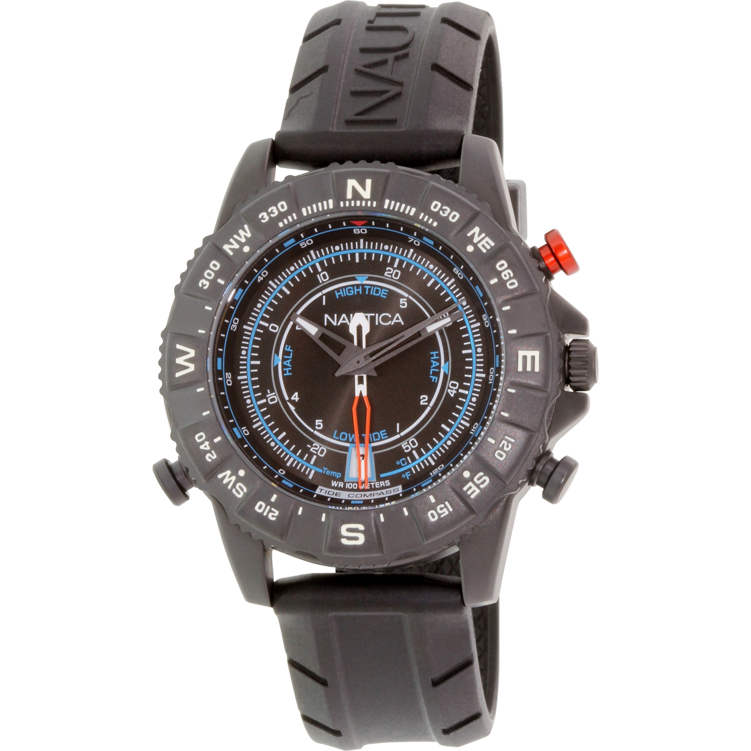 Nautica Men's Nsr 103 NAD21001G Black Rubber Analog Quartz Watch by Nautica