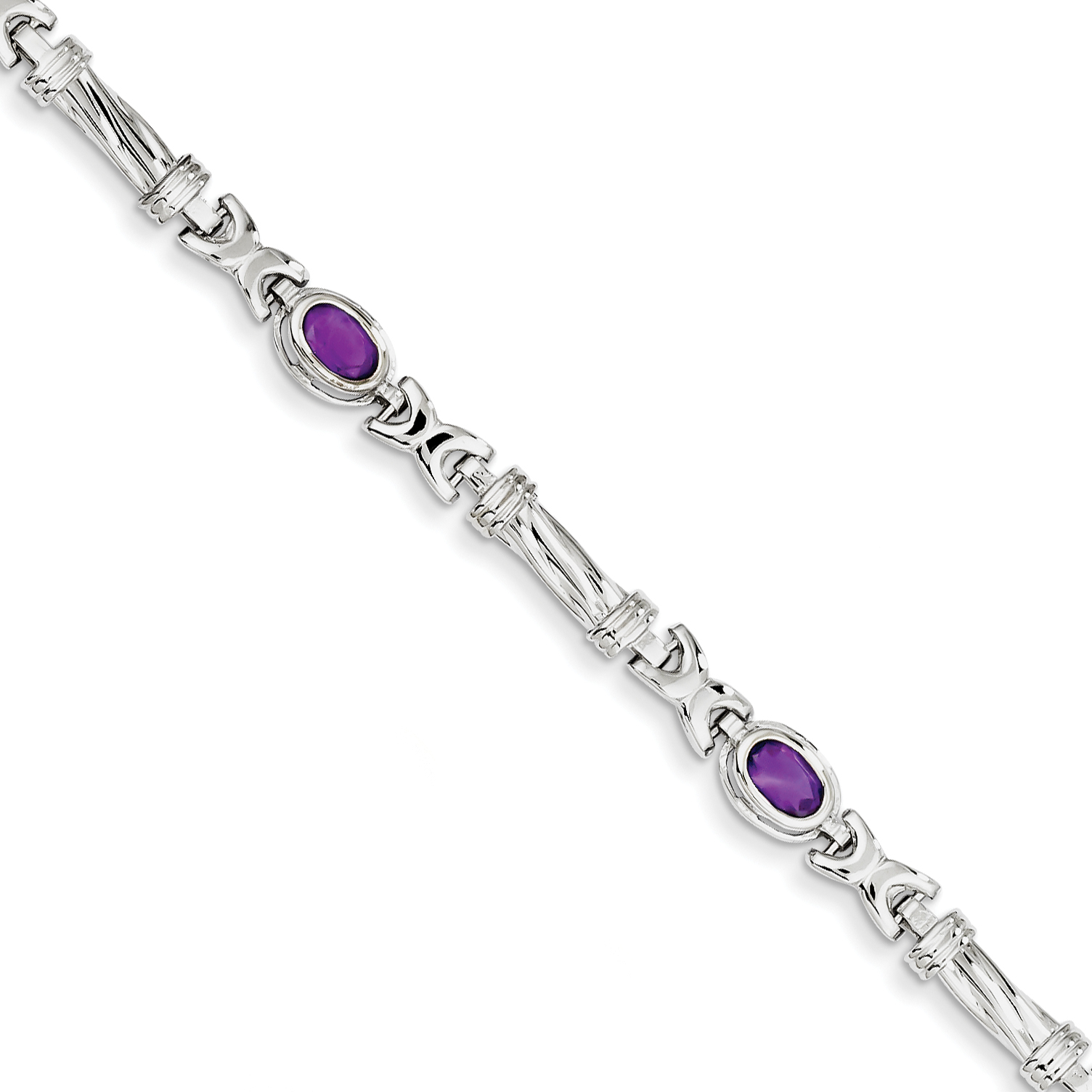 14k Yellow Gold White Amethyst Bracelet by