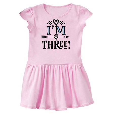 3rd Birthday 3 Year Old Arrow Toddler Dress
