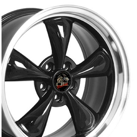 - OE Wheels   18 Inch Fits Ford Mustang 1994-2004  Bullitt Style FR01 Black with Machined Lip   18x9 Rim   Hollander 3448