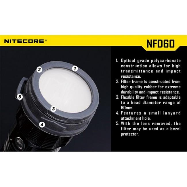 Nitecore NFD60 Diffuser for TM11, TM15, MH40