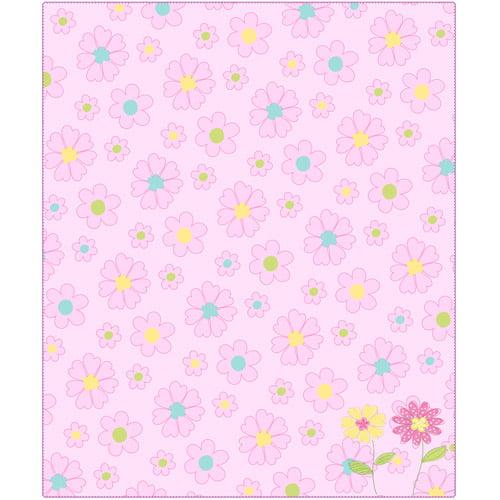 American Kids Daisy Garden Throw, Pink
