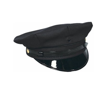 Deluxe Chino Twill Chauffeur or Police Officer Hat (Cheap Chauffeur Hats)