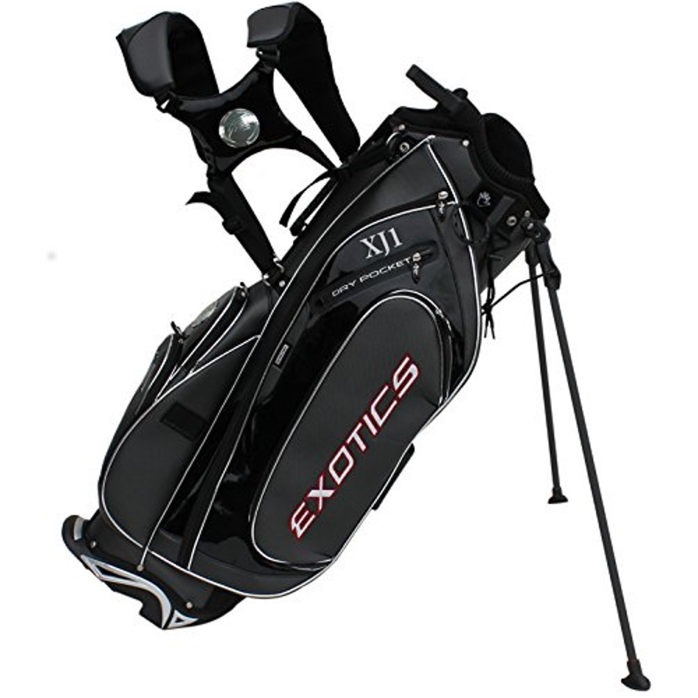 NEW* Tour Edge Golf Exotics XJ1 Staff Stand / Carry Bag 7-way Top Black / Red