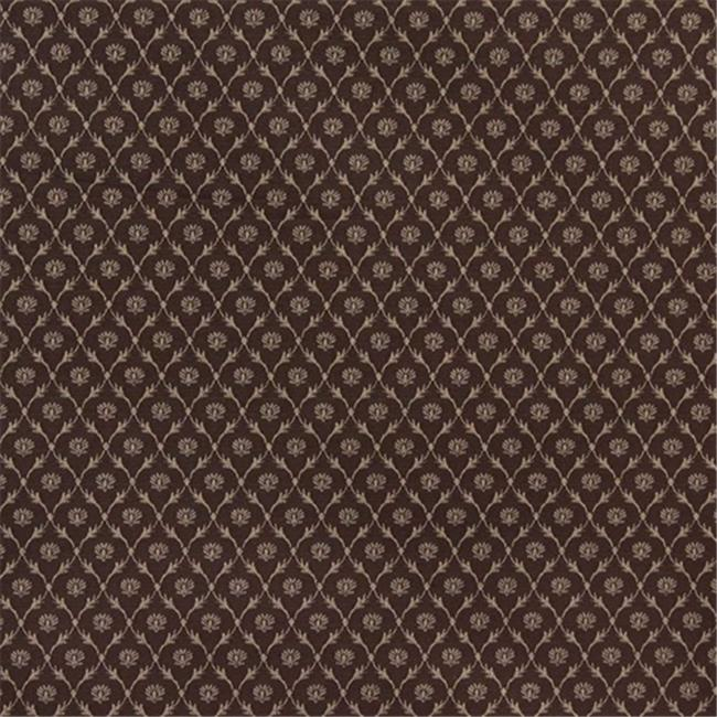Designer Fabrics B639 54 in. Wide Brown, Floral Trellis Jacquard Woven Upholstery Fabric