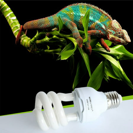 5.0 10.0 13W UVB Bulb for Reptile Tropical Compact Fluorescent Bulb for Amphibian Tortoise Lizard Succulent Plants Improve D3 Synthesis Increase Calcium Absorption