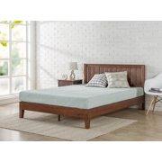 """ZINUS Vivek 37"""" Deluxe Wood Platform Bed, Antique Espresso, King"""