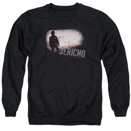 JERICHO/MUSHROOM CLOUD - ADULT CREWNECK SWEATSHIRT - BLACK - SM