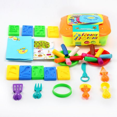 ed90a6adc Molding Magic Clay Plasticine Slime Toys Ultra Light Creative Kitchen Food  Cooking Baking Molding Kit Tool Box Set with 12 Color Clays 30 PCs F-88 ...