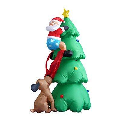 BZB Goods 6 foot inflatable christmas santa claus climbin...