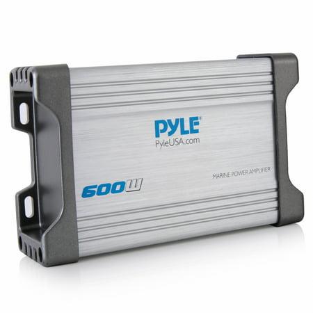 Pyle PLMRMP4A - 4-Channel Waterproof Rated Marine Amplifier Kit - Marine Grade Component Audio Amp, AUX/RCA/MP3 Input (1200 Watt MAX)