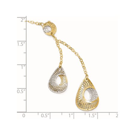 Leslies 14k Two-tone Fancy Y-Drop w/1in ext. Necklace - image 3 of 4