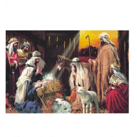 It's Christmas! Manger Scene Greeting Card](Manger Silhouette Scene)