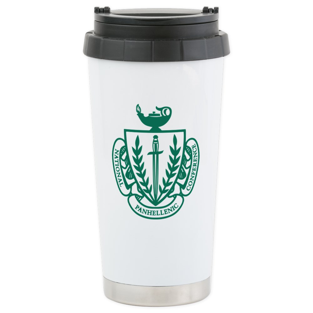 CafePress NPC Coat Of Arms Stainless Steel Travel Mug Stainless Steel Travel Mug, Insulated 16 oz. Coffee Tumbler by