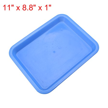 Square Plastic Fast Food Drinks Tea Tray Restaurant Serving Tray - Teal Fast Food Tray