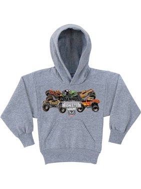 Personalized Monster Jam Pile-Up Boys' Grey Hoodie