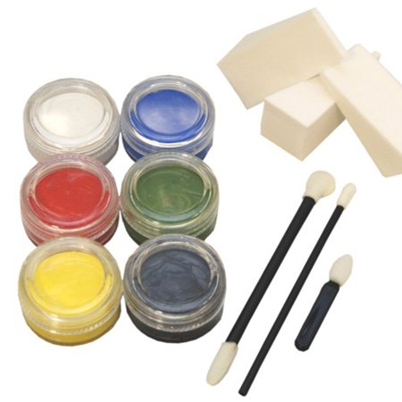 6 Color 10Ml Face Paint Set Custom Body Art Makeup Color - Zebra Halloween Face Makeup