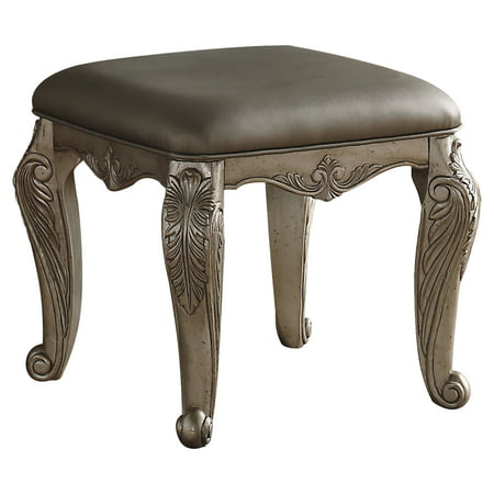 ACME Northville Padded Vanity Stool in Antique Silver ()