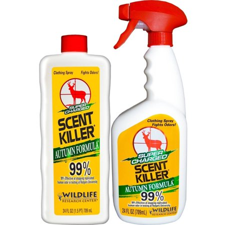 - Wildlife Research Super Charged Scent Killer Autumn Formula Spray 24/24 Combo, 48 oz